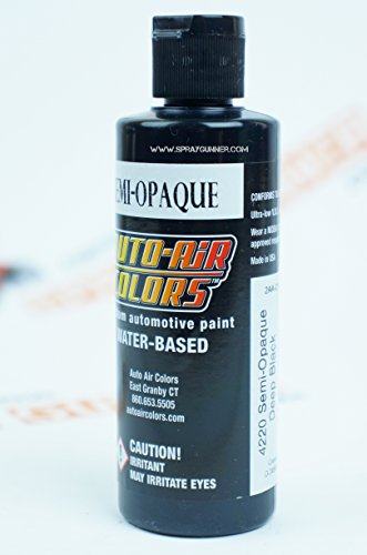 Createx Auto-Air Colors 4oz Semi-Opaque Deep Black 4220 Custom Airbrush Paint. by SprayGunner ()