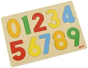 Goki GK602 - Tabla de madera troquelada con números