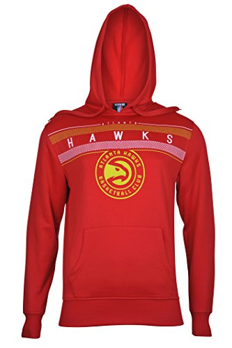 fan products of NBA Men's Atlanta Hawks Fleece Hoodie Pullover Sweatshirt Poly Midtown, Large, Red