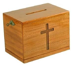 Amazon.com: Wood wooden church offering box donation ...