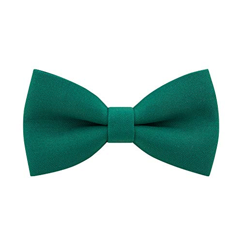 Classic Pre-Tied Bow Tie Formal Solid Tuxedo, by Bow Tie House (Large, Sea Green)