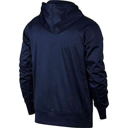 Nike Men's Football Pullover Hoodie Dri-FIT Therma 905957 905957 419 (Navy, l)