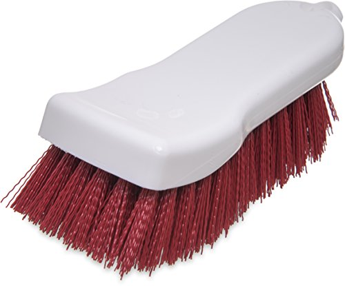 "Carlisle 4052105 Sparta Commercial Cutting Board Brush, 6"" x 2.5"", Red"