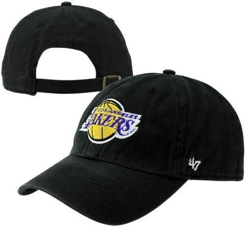 Amazon Com Twins Details About Los Angeles La Lakers Dadhat 47 Brand Cap Clean Up Dad Hat Black Sports Fan Baseball Caps Clothing