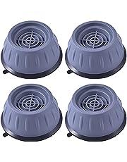 DASNTERED Tvättmaskin fötter dynor, 4 st anti-vibrationsmatta, stöt- och brusreducerande tvättmaskinsstöd, halkfri tvättmaskin för alla tvättar och torktumlarmaskiner