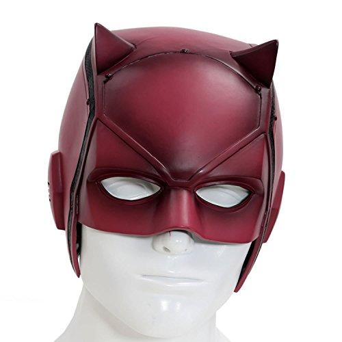 Halloween Maske Rote Schwarz PVC Helm Cosplay Kostüm Erwachsene Costume Prop Murdock Helmet