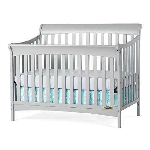 Child Craft Coventry 4-in-1 Convertible Full-Size Crib, Cool Gray