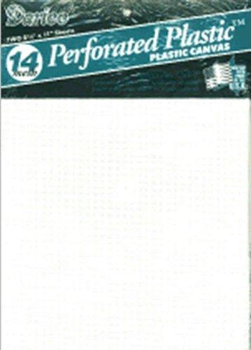 (Darice Perforated Plastic #14 Mesh Plastic Canvas, White - 8.25