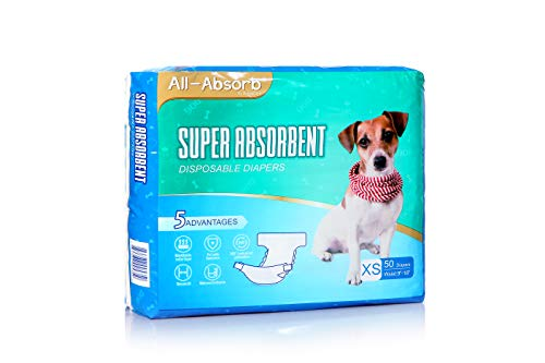All-Absorb Disposable Dog Diapers, X-Small