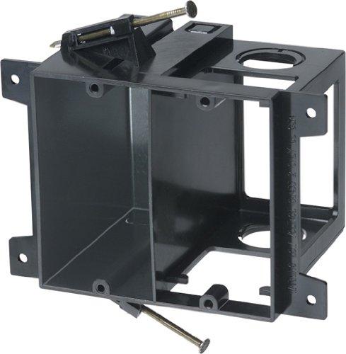 Arlington LVD2 2-Gang Combo Electrical/Low-Voltage Box, Black, 1-Pack