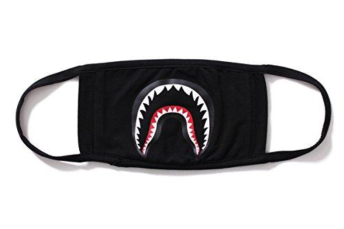 Black Black Shark Face Mask by maskking