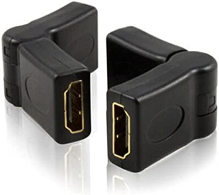 Micro SATA Cables HDMI Female Type A Type A to HDMI Female with 180 Degree Flexible Joint