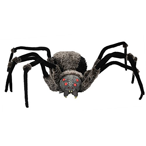 Homemade Halloween Gravestone (Halloween Decorations Giant Spider Furry Poly Filled Body with LED Eyes)
