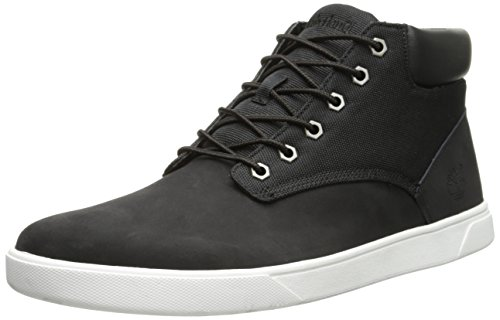 Timberland Men's Groveton Plain Toe Chukka , Black/Canvas, 9.5 M US