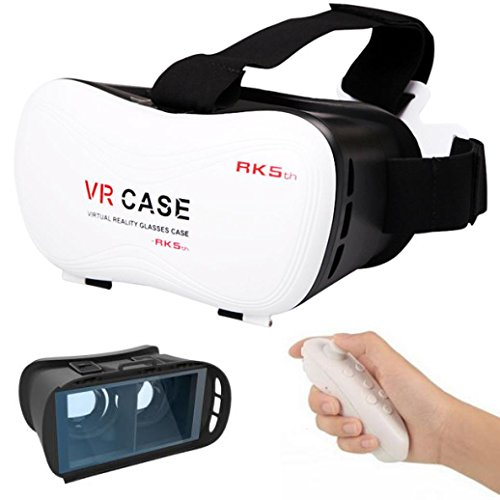 Price comparison product image Creazy New Google Cardboard VR BOX Virtual Reality 3D Glasses For 4.7-6 Inch Android Smartphone