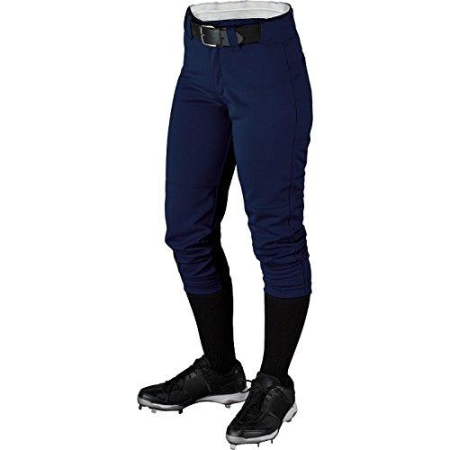 Wilson Women's (Low-Rise) Heavyweight Poly Warp Knit Softball Pant , Navy, Small - Low Rise Pro Pant