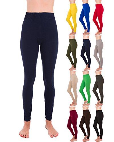 Homma Premium Ultra Soft High Rise Waist Full Length Regular and Plus Size Leggings (S/M/L, -