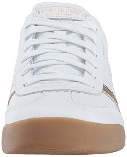 Femme Flicker Baskets White Skechers Blanc Zinger Gold v0tqOOwBx