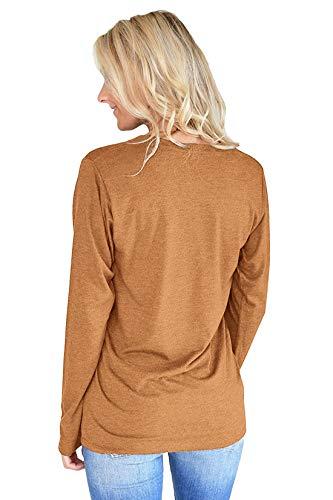 Shirts et Fashion Blouse Lettre Printemps Jumpers Pulls Rond Shirts Automne Tops T Imprim Tees Kaki Jeune Col Manches Longues Sweat Femmes Casual Hauts 7w6pwqdA