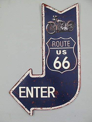 Nostalgia Letrero de Metal, Cartel de Pared Flecha, Ruta 66 ...