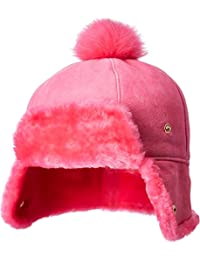 Kids Womens Water Resistant Sheepskin Pom Hat (Toddler Little Kids) 7c3a7d57c5c5