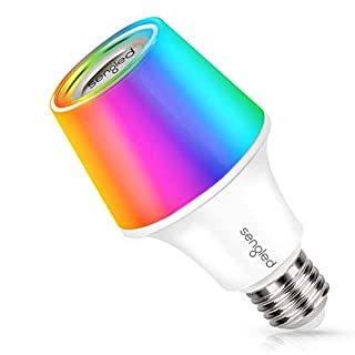 Sengled Solo RGBW Bluetooth Light Bulb Speaker Multi Color Changing LED Light Bulb 60W Equivalent Dimmable App Controlled E26 Smart Music Bulb, Compatible with Alexa via Bluetooth Connection