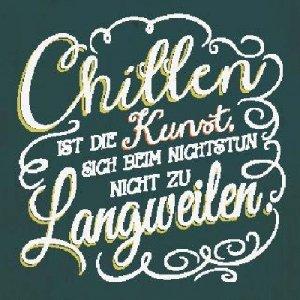 Sprüche Schild On the Wall 8,5x8,5 cm Chillen 032: Amazon.de