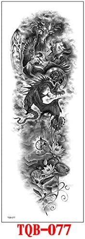 tzxdbh Tatuaje DE Brazo DE Manga Completa, DRAGÓN Oriental, Flores ...