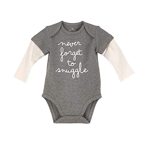 Price comparison product image Oliver + Rain B2452 Never Forget to Snuggle Bodysuit-Newborn
