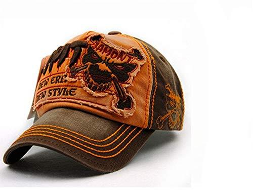 レジャー野球帽男性用スナップカセット女性用帽子アクセサリー,オレンジ,56?62cm