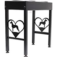 Elevated dog feeder stand raised dog bowls for Great Dane