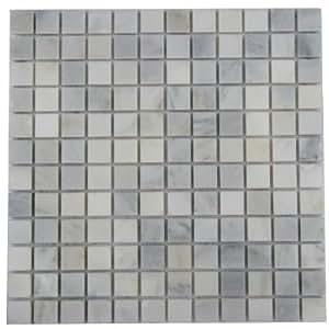 1 x 1 blanco m rmol de carrara pulido mosaico azulejos - Limpieza marmol blanco ...