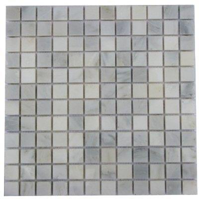 1x1 White Carrara Marble Polished Mosaic Tiles For Backsplash
