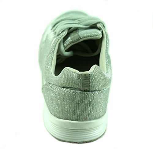 Shoes Townforst Color Silver Breathable Sneaker Womens Athletic Fashion xIwI4Bpr