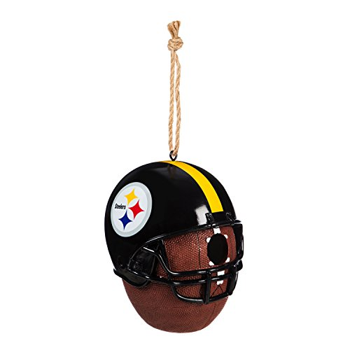 (Team Sports America Pittsburgh Steelers Team Logo and Ball Hanging Birdhouse)