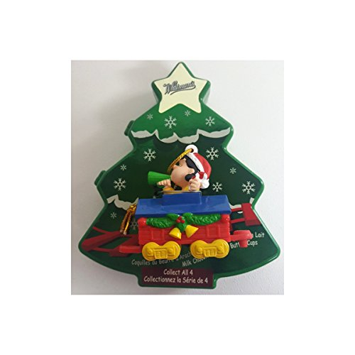 (2004 Peanuts Lucy On Train Caboose Christmas Ornament Whitman's Tree Box w/Peanut Butter Cup Candy 2.75 oz. )