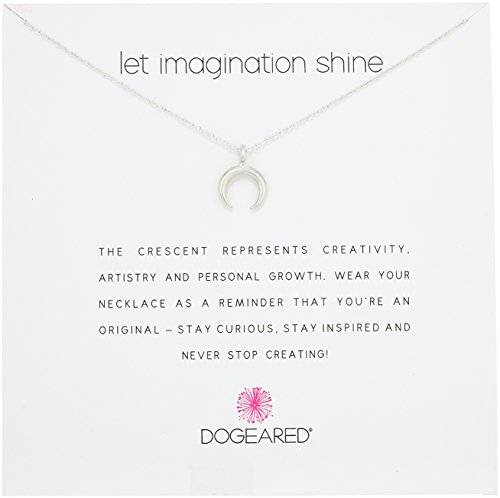 Dogeared Let Imagination Shine, Crescent, Silver Chain Necklace, 16''+2'' Extender by Dogeared