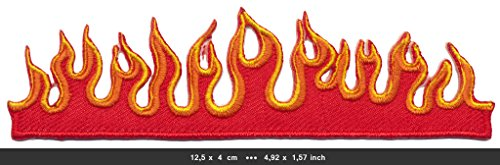 FIRE FLAMES Iron Sew On Cotton Patches Motorcycles Motorbikes Biker Chopper by RSPS Embroidery n Decals - Flame Embroidery