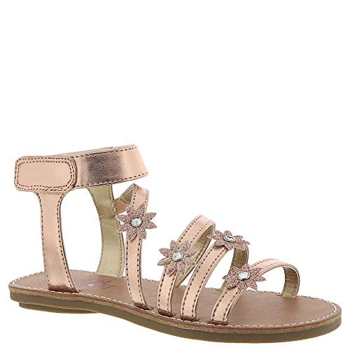 Rachel Shoes Nicolina Girls' Toddler-Youth Sandal 4 M US Big Kid Rose Gold