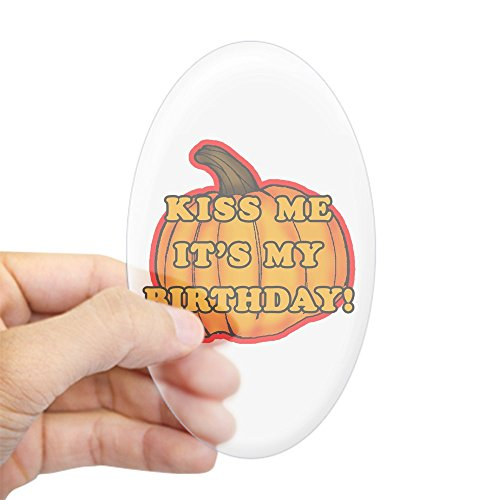 CafePress - Halloween Birthday Oval Sticker - Oval Bumper Sticker, Euro Oval Car Decal (Custom Halloween Masks Photo)