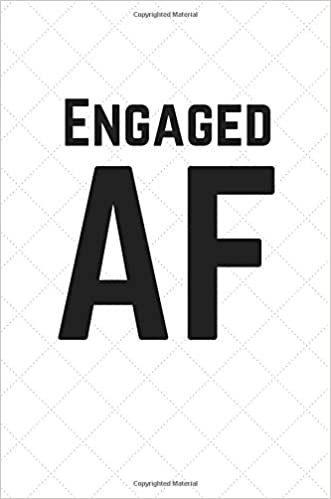 Engaged AF Quilted Cover 100 Page Lined Journal Paper Notebook For Friends Birthday Funny Note Taking Book