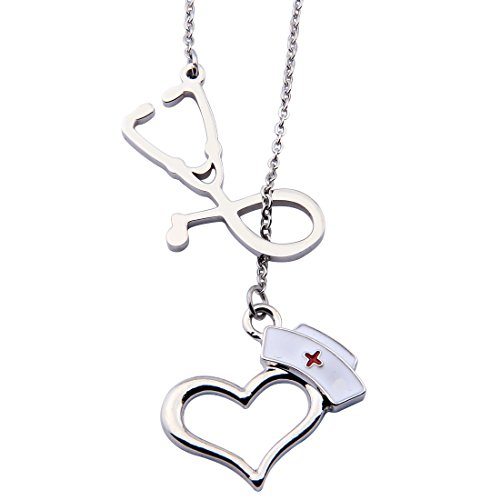 Personalized Nurse Bracelet,RN Bracelet,Nurse Jewelry,Gift for Nurse,Custom Nurse Gift,Graduation Gift (Lariat Necklace 1)