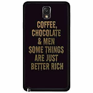 Chocolate Coffee and Men TPU RUBBER SILICONE Phone Case Back Cover Samsung Galaxy Note III 3 N9002
