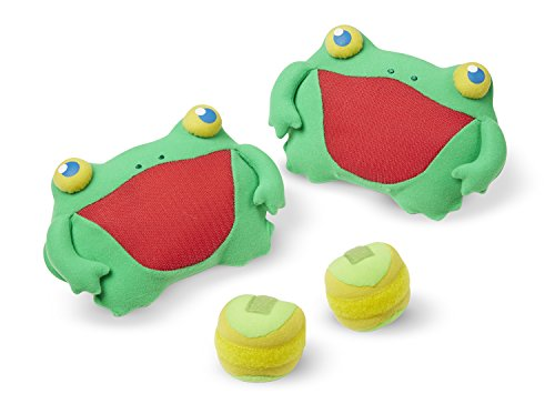 Melissa & Doug Sunny Patch Skippy Frog Toss and Grip Action Game - 2 Mitts, 2 Soft - Frog Beach Ball
