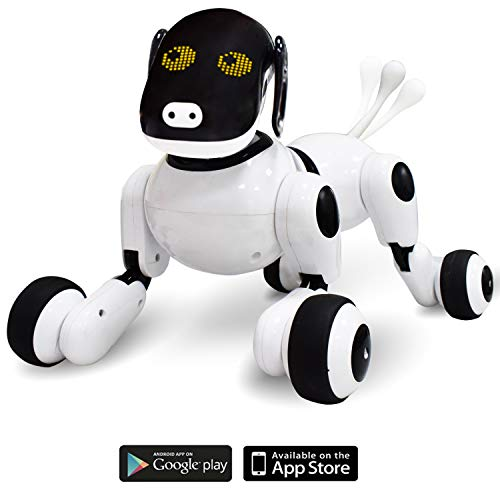 Contixo Puppy Smart Interactive Robot Pet Toy for Kids, Voice, App, and Touch Controlled ()