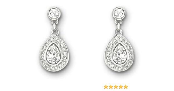 19452d64c Amazon.com: Swarovski Sensation Small Pierced Earrings: Dangle Earrings:  Clothing