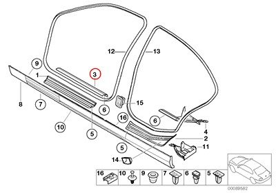 BMW Genuine Tow Hook Cover Front for 320i 323i 325i 325xi 328i 330i 330xi