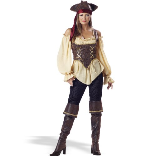 InCharacter Costumes Women's Rustic Pirate Lady Costume Tan/Brown, Small for $<!--$75.00-->
