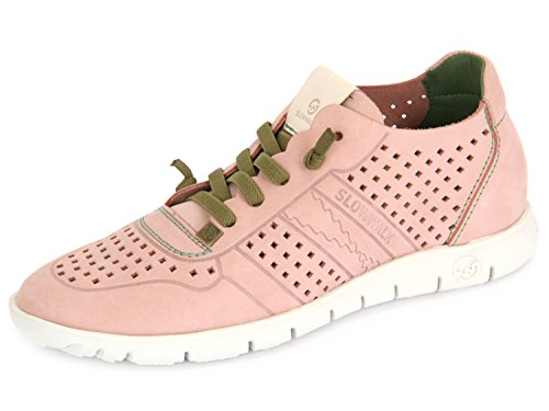 Slowwalk Morvi-w 10360w Pi Lady Lace-up Sportiva Rosso (rosa)