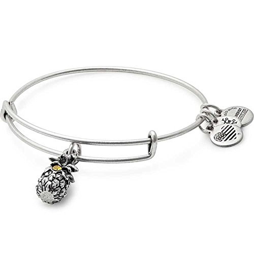 Alex and Ani Women's Path of Symbols-Pineapple III Bangle Rafaelian Silver (Pineapple Jewelry)